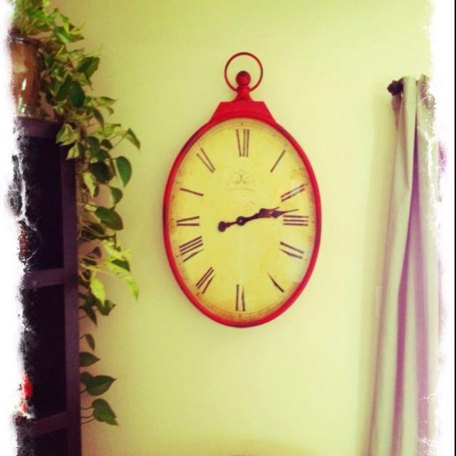 Pier 1 Red Antique Wall Clock Clock Wall Clock Antique Wall Clock
