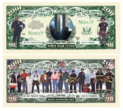 9/11 - 10th Anniversary WTC Memorial Commemorative Bill (10 bills) by AAC. $4.99. 9/11 - 10th Anniversary WTC Memorial Commemorative Bill (bills)