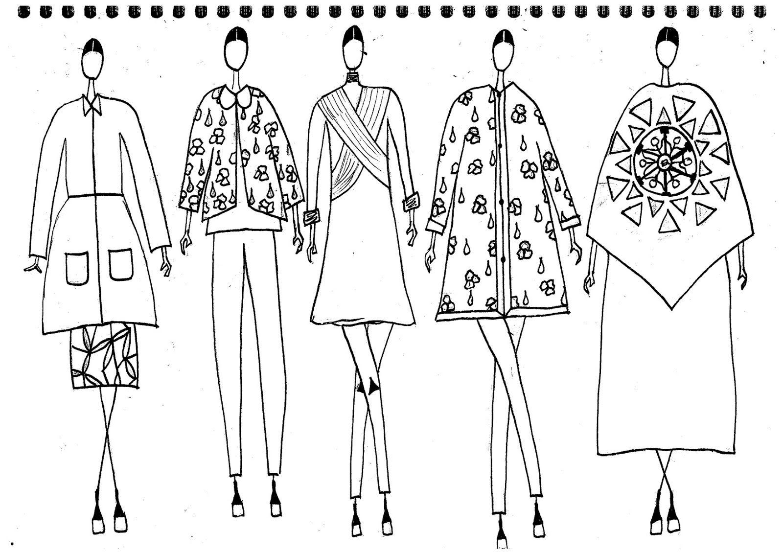 Fashion Sketchbook - fashion design drawings; fashion portfolio // Kitty Lawrence