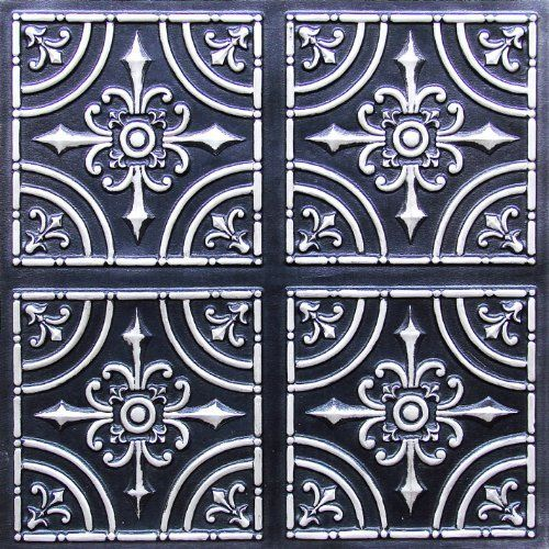 Decorative Plastic Ceiling Tiles Prepossessing Tin Ceiling Tiles 2X2 Flat #205 Antique Silver Cheapest Decorative Design Ideas