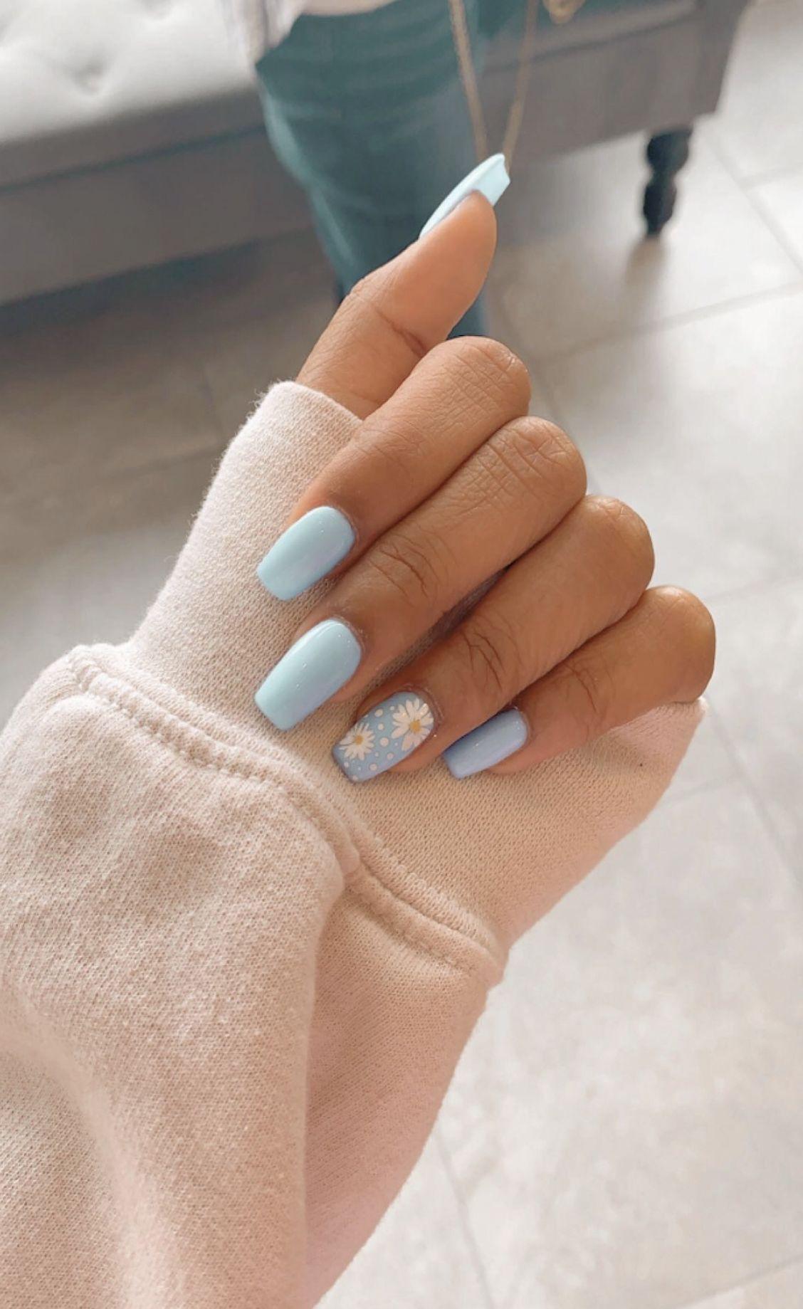 Vsco Chynamcghee Short Acrylic Nails Designs Blue Acrylic Nails Simple Acrylic Nails