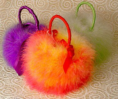 Custom Fur Baskets for Flower girls.  Made in house by Kew Gardens. Other colours available.