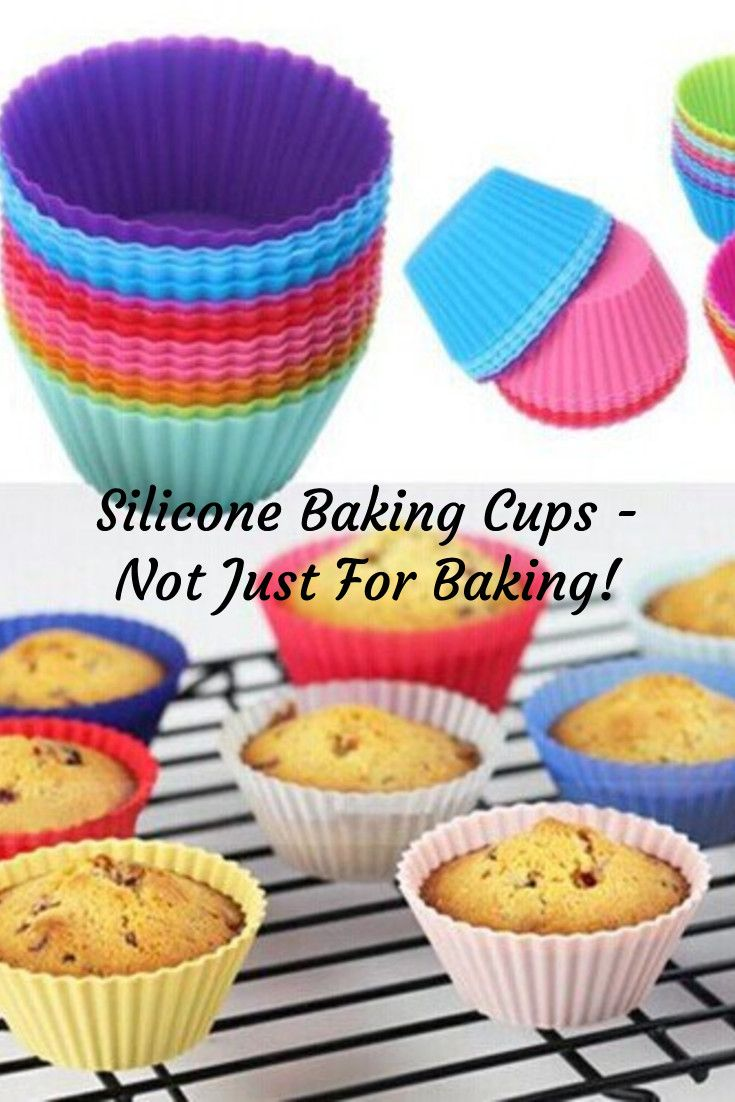 Silicone baking cups are not just for cupcakes or muffins. They can be used for breakfast, crafts, and diy lunches.