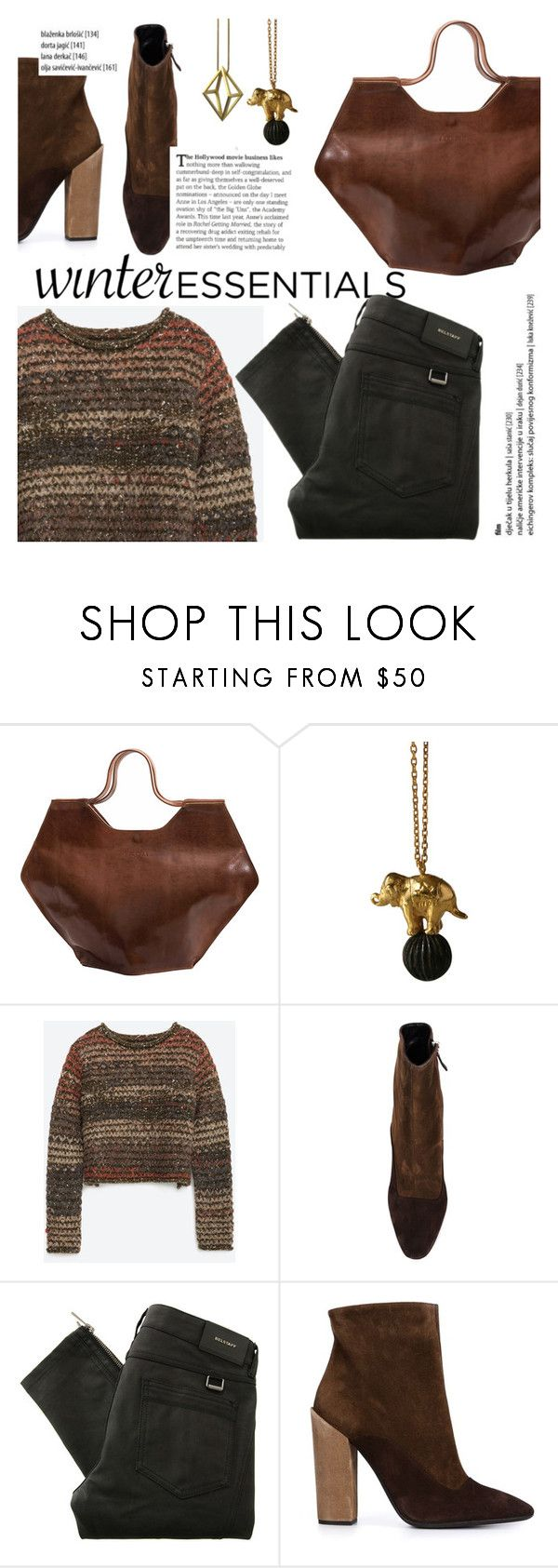 """""""winter essentials"""" by thepommier ❤ liked on Polyvore featuring Zara, Giambattista Valli, Belstaff and Stephanie Bates"""