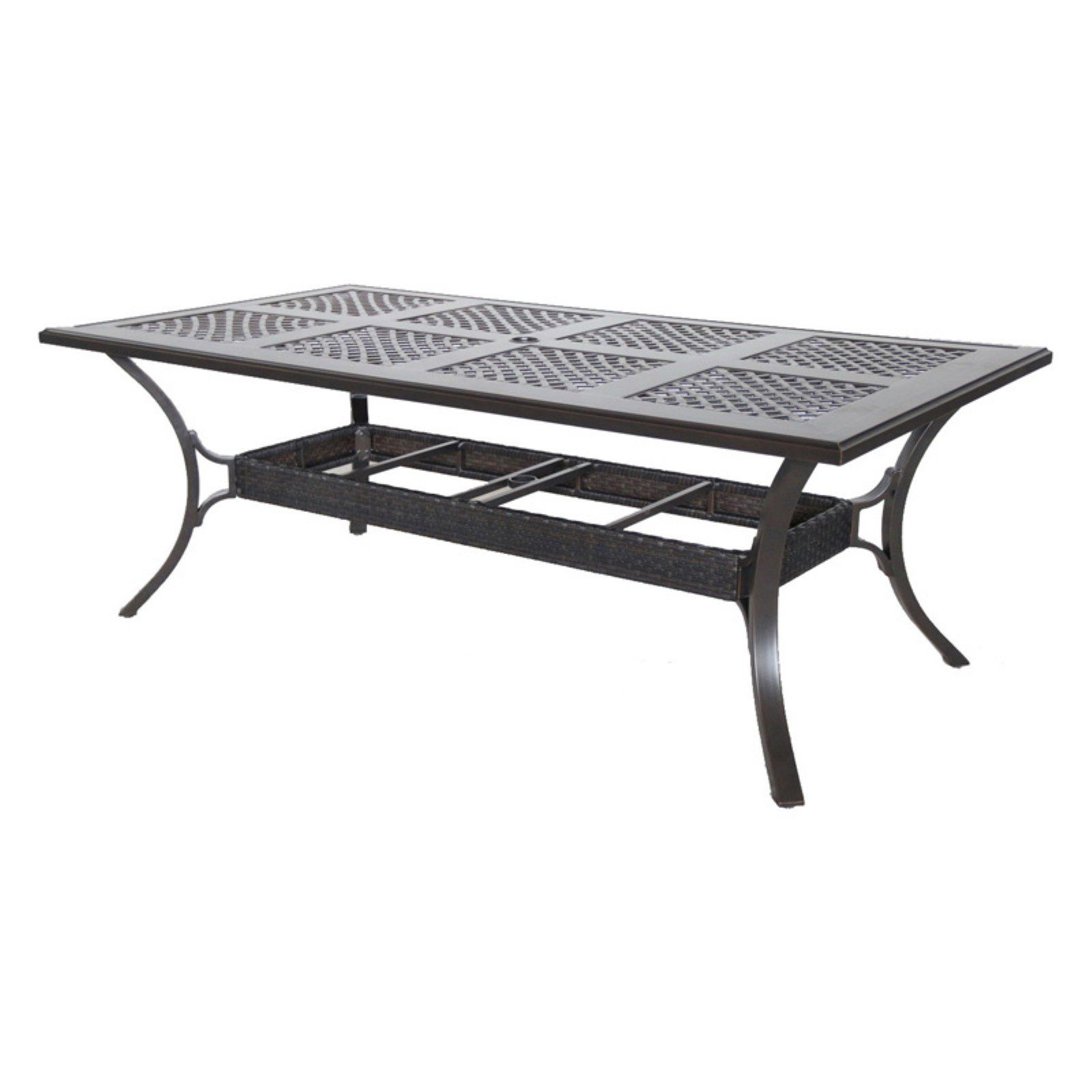 Royal Garden Summer Cast Aluminum Outdoor 82 In Long Rectangular