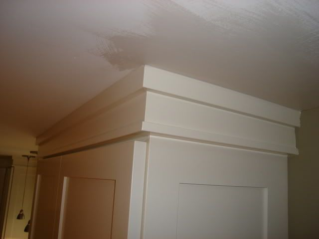 crown molding styles and designs | Crown molding on shaker style ...