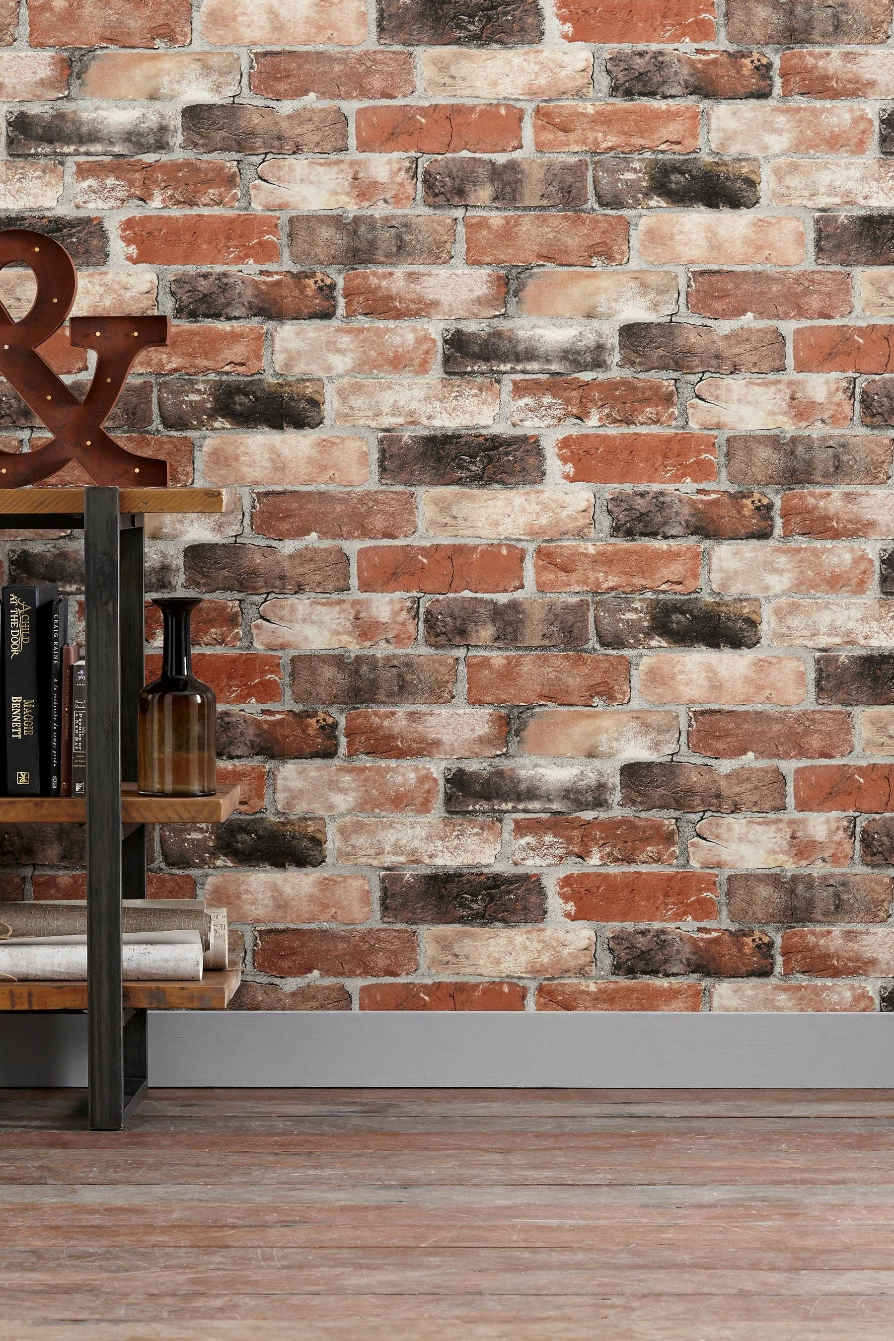 Buy Paste The Wall Bricks Wallpaper from the Next UK