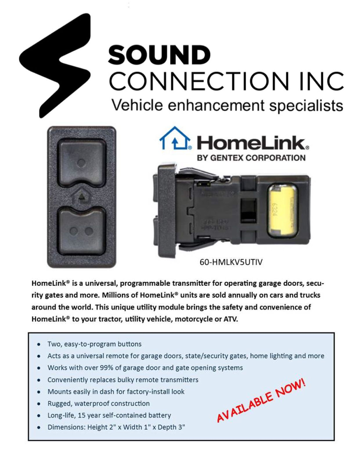 Battery Operated Wireless Homelink This Is Amazing For Utv S