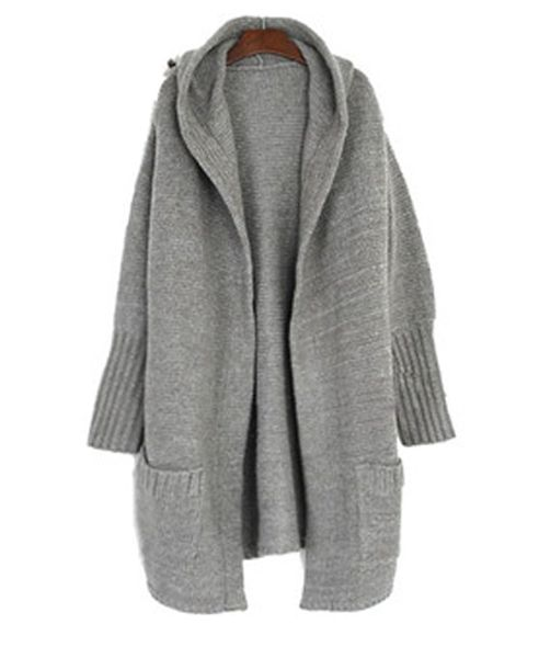 710be0e2772 Hooded chunky knit cardigan.  hoodedknitcardigan  chunkyknitcardigan   knitwear