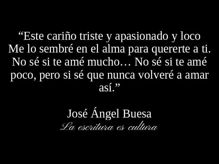 José Ángel Buesa. una daja o tu amor cual es la diferencia