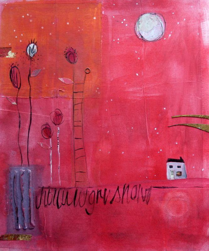 Red Snow By Rachel Horne Ideas For The House Gouache