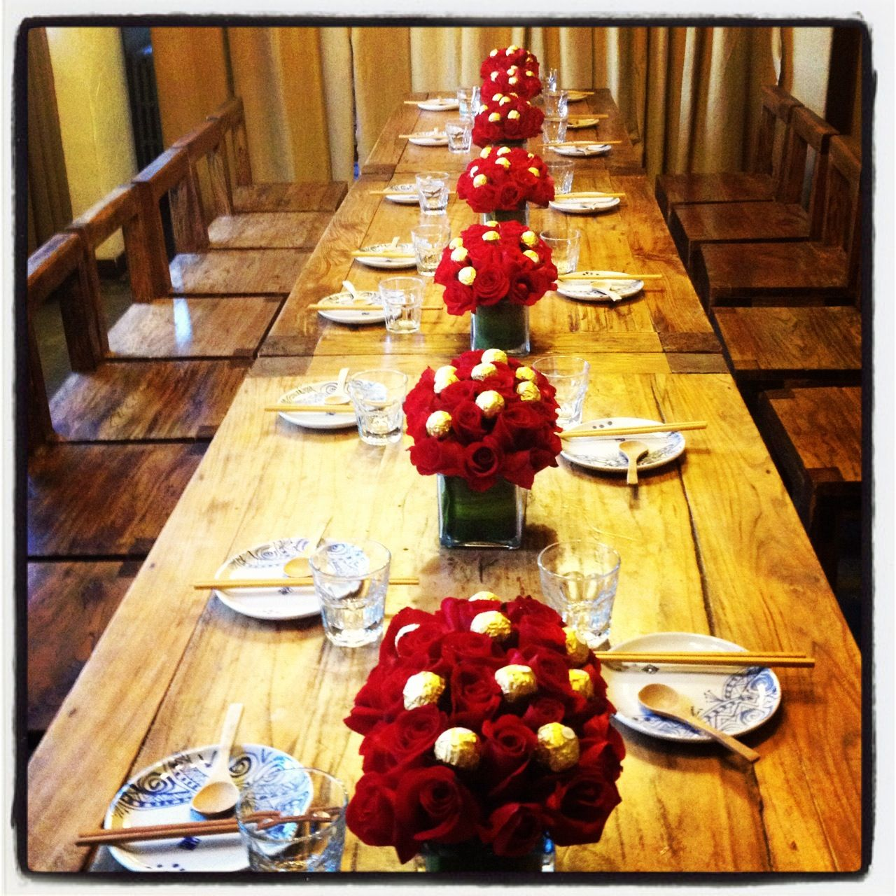 my ferrero rocher & rose centerpieces at in | Food ...