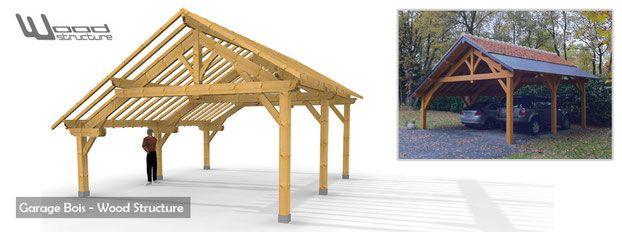 abris 2 pans paw charpente bois livr e en kit appentis garage charpente bois pr t monter. Black Bedroom Furniture Sets. Home Design Ideas