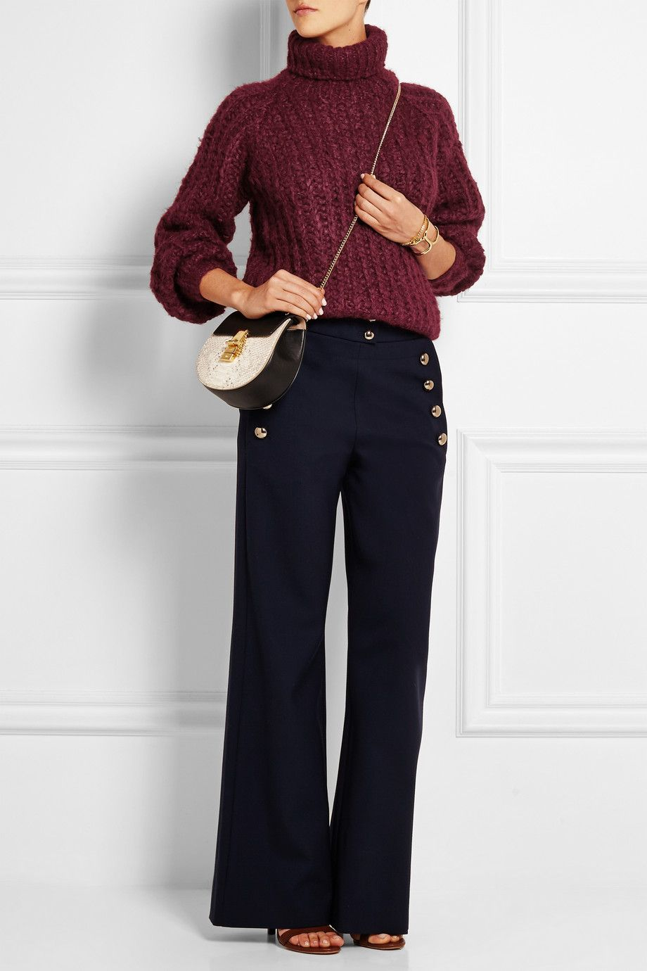 Chloé | Silk, mohair and wool-blend turtleneck sweater | NET-A-PORTER.COM