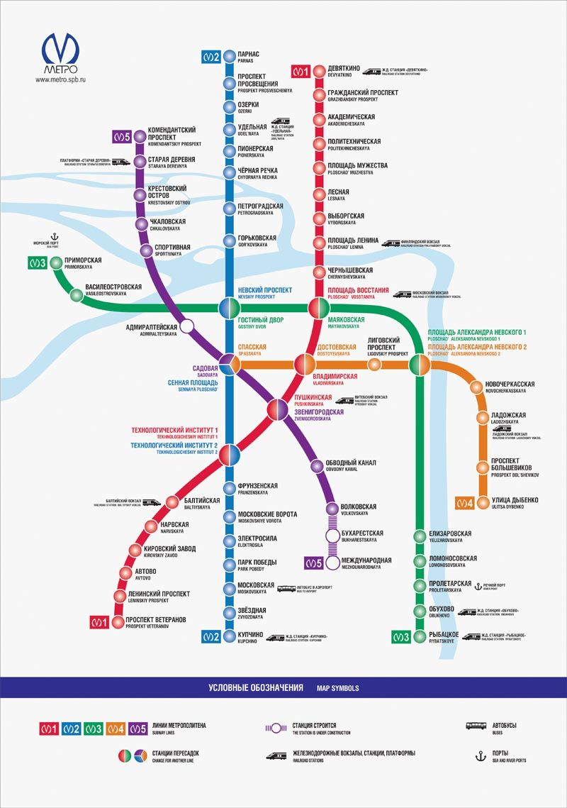 Saint Petersburg Subway Map Sankt Petersburg Sankt