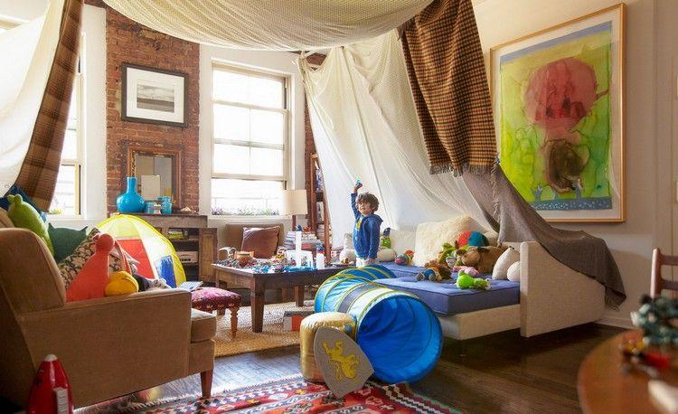 Lovely Große Höhle Bauen Wohnzimmer Decken Spannen #kids #blankets #diy