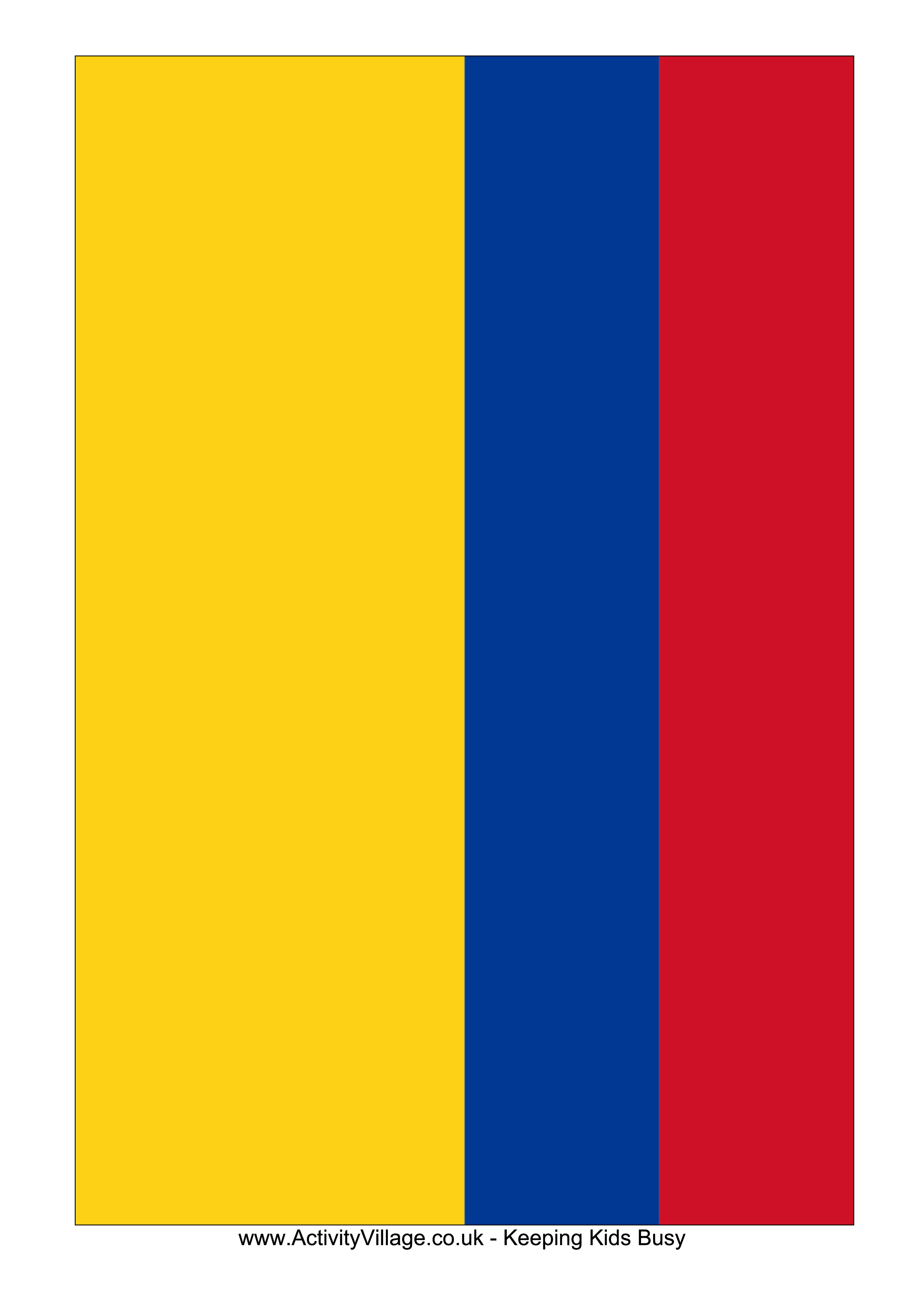 colombia flag free printable colombia flag