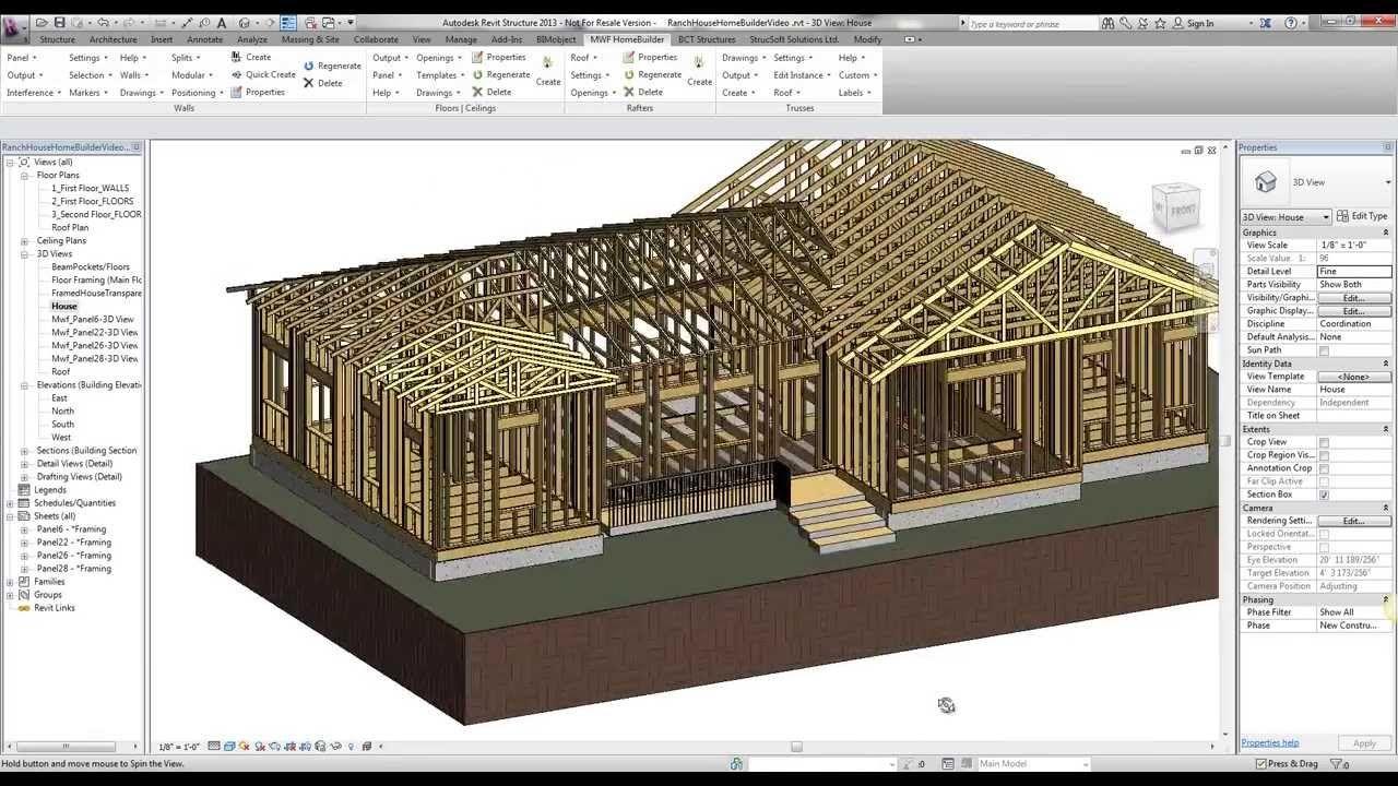 Mwf Homebuilder Suite Intro In Revit Revit Tutorial Building Information Modeling Autocad Revit
