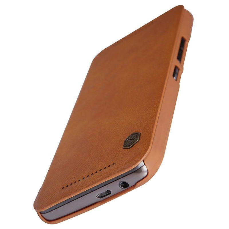 HTC One M9 Nillkin Qin Series Flip Case - Bruin