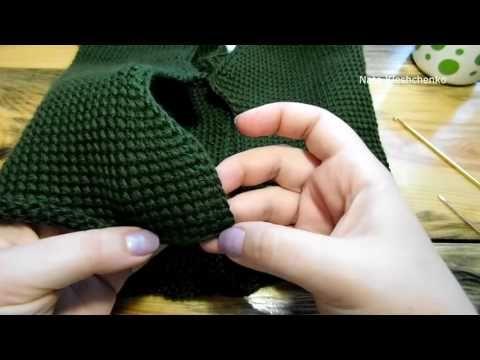 штаны тунисским вязанием для девочки 3 часть - YouTube