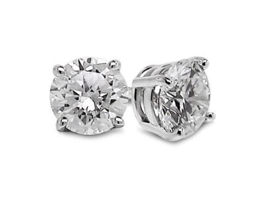 be839f5ca9d8 Antiguo 0.70 ct Puntas Set Real Diamante 14k Oro Blanco Solitario Tachas  pendientes in Joyería y relojes