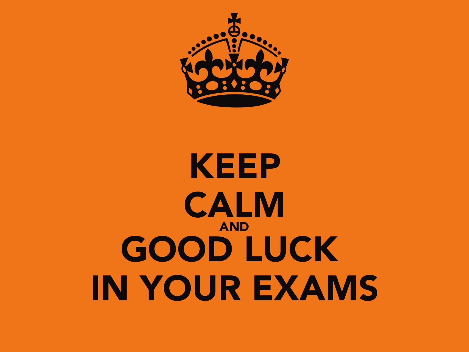 Resultado de imagen de good luck with your exams