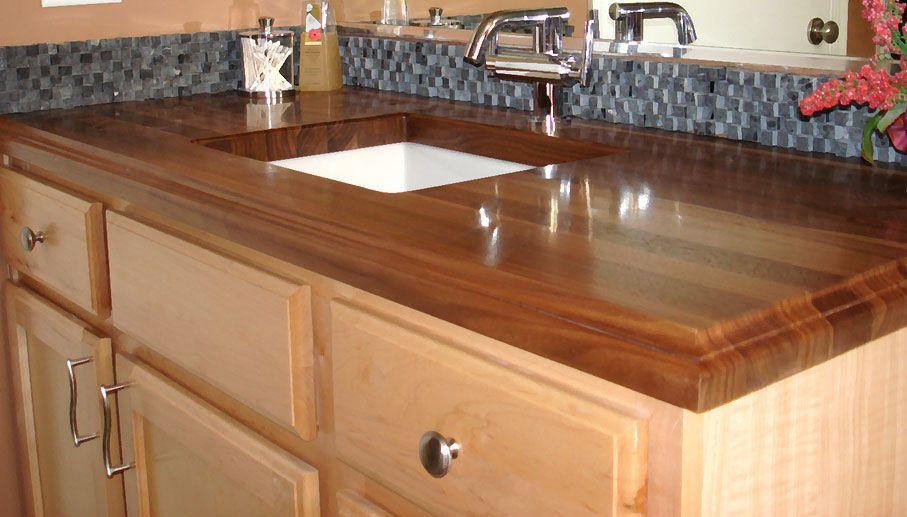 Reclaimed Wood Vanity Top Onyx Vessel Sink Reclaimed Teak Vanity Mirror W  Backsplash