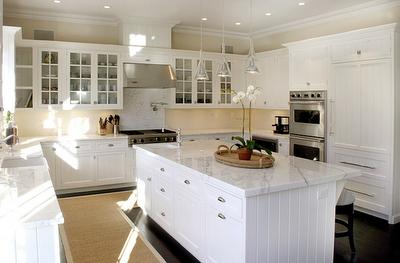 Love white kitchens!