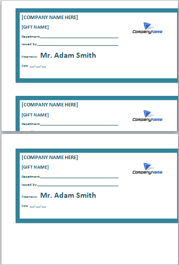 employee gift certificate template at dotxls.org | Microsoft ...