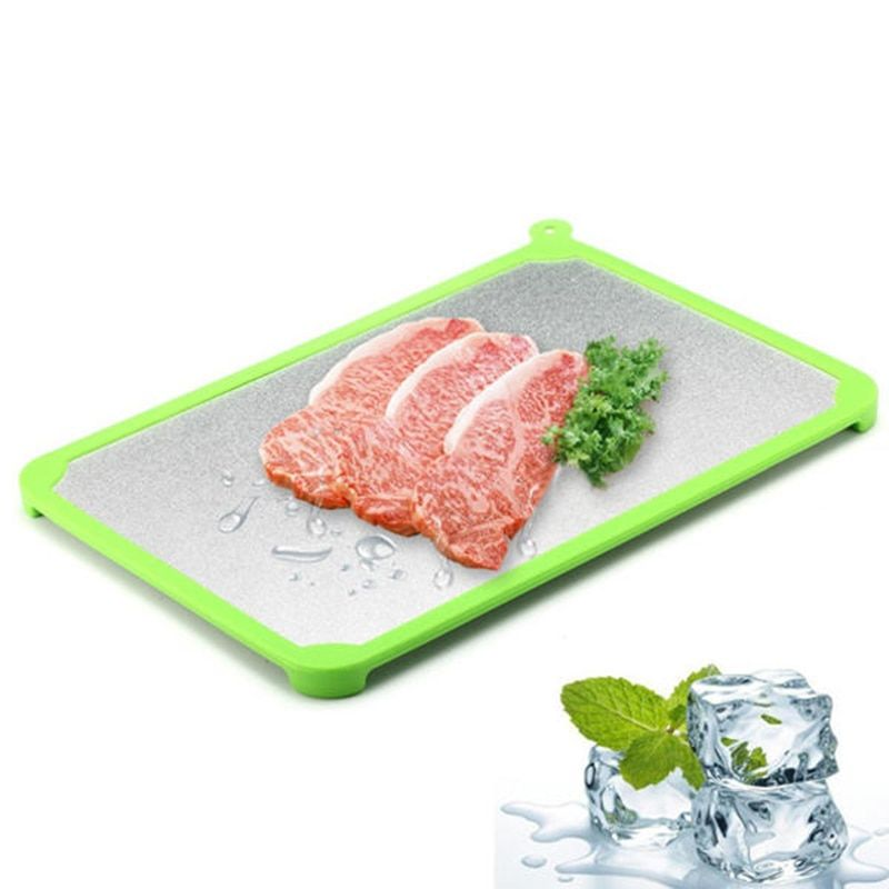 Fast defrosting tray frozen beef meat food magic defroster