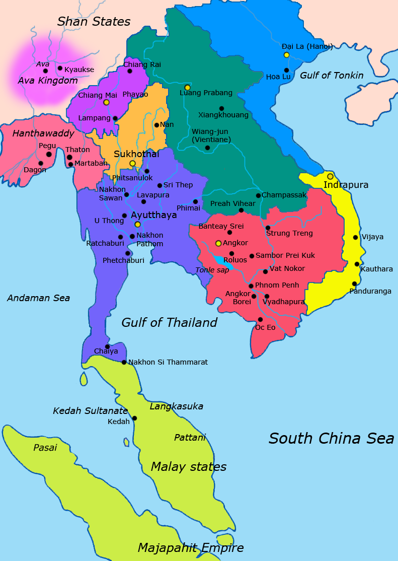 Map-of-southeast-asia 1400 CE - Lan Xang - Wikipedia | Maps ...