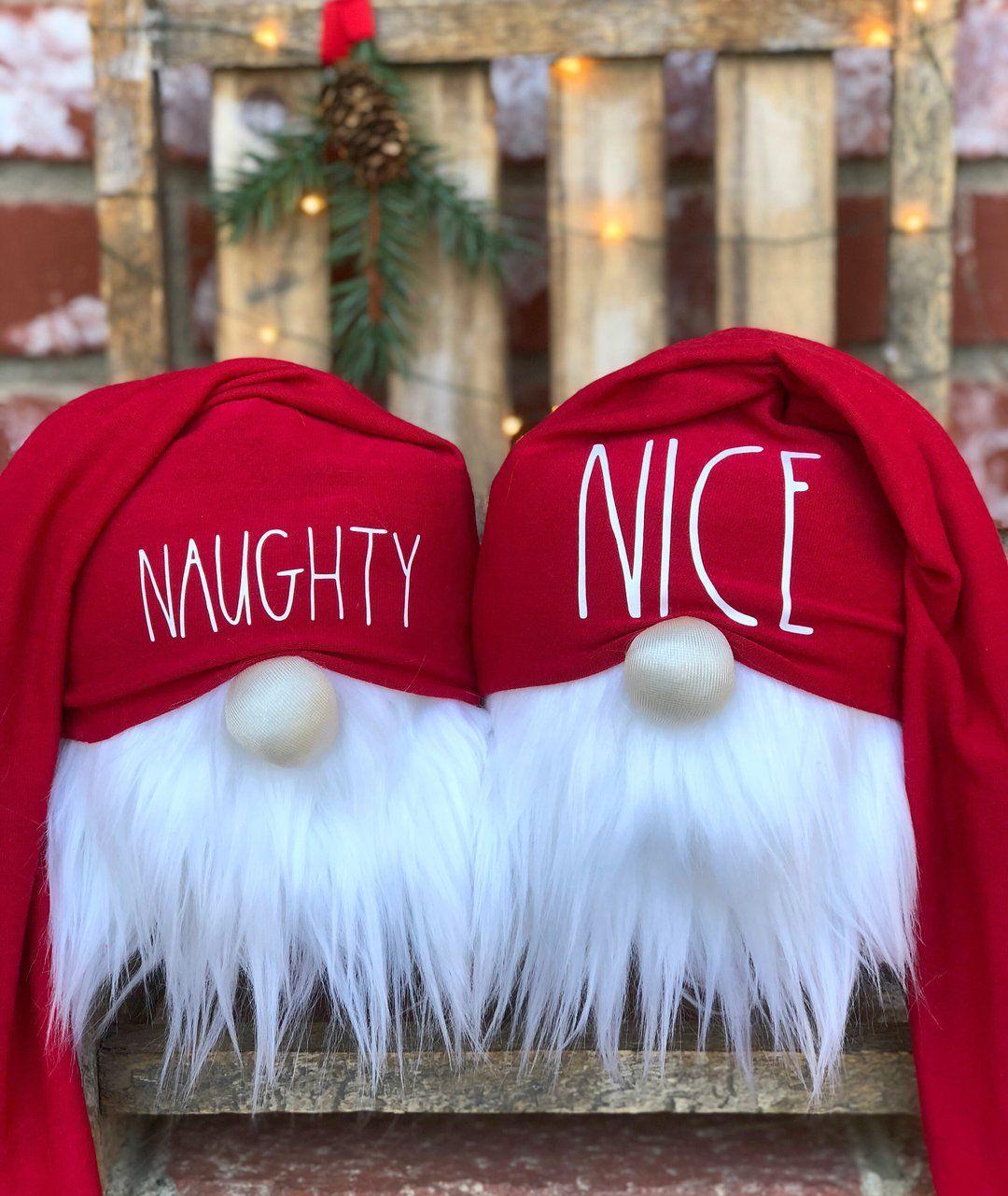 Naughty & Nice Gnomes Set #christmasgnomes