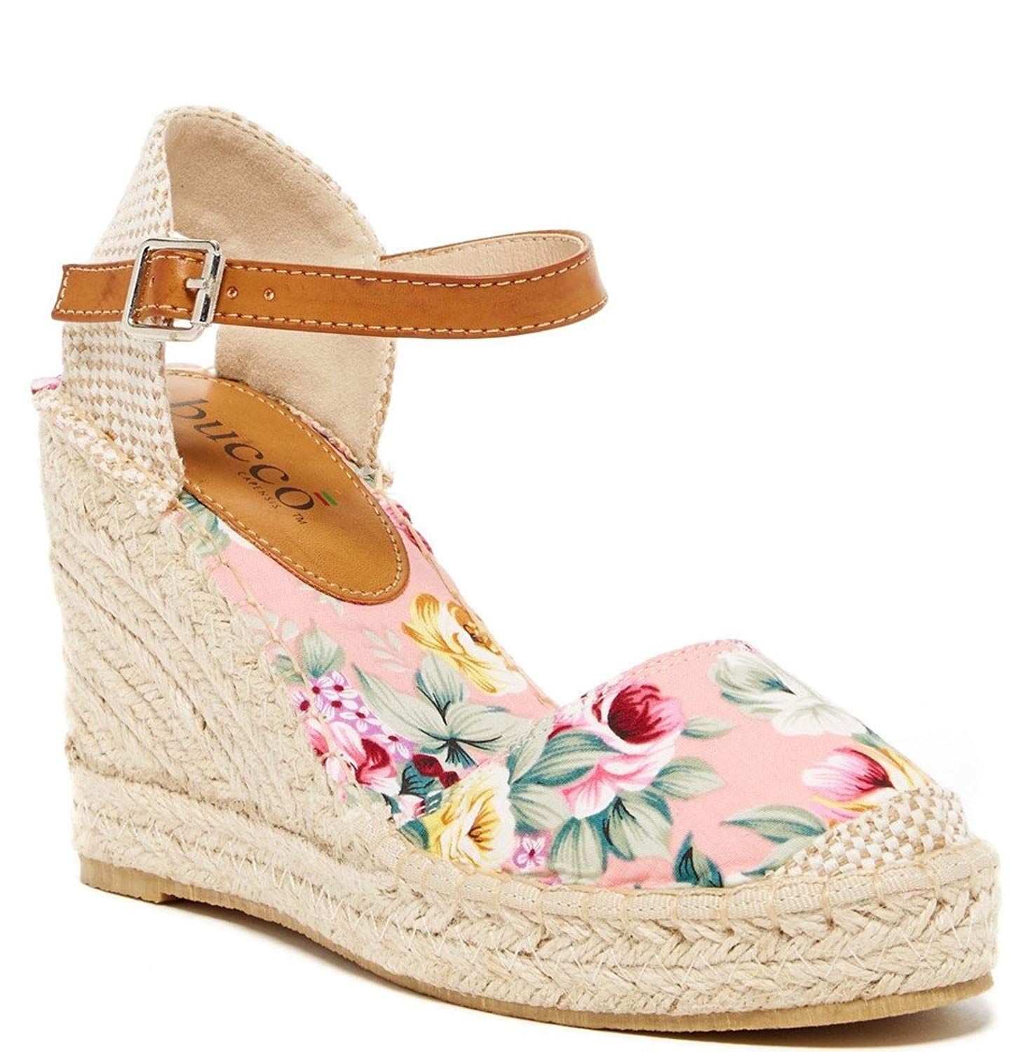 c982a8ecac91 Bucco Flowery Womens Fashion Wedge Sandals. Get out and enjoy the beautiful  weather in these adorable espadrille-inspired Bucco Flowery wedges  featuring ...