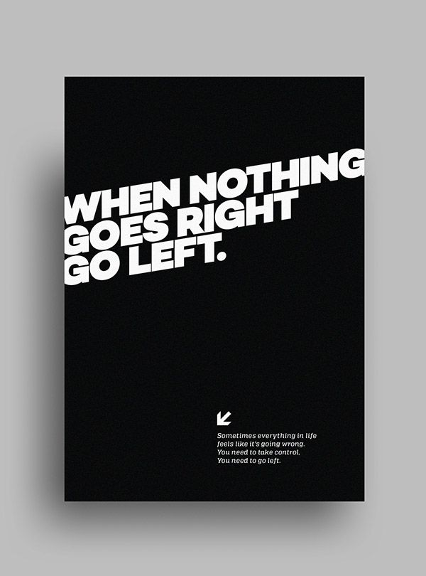 Striking Minimalist Black White Posters Featuring Gorgeous Typography