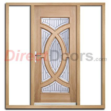Majestic Exterior Oak Door With Zinc Double Glazing And Frame Set