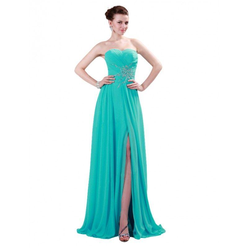 0ce71f1589a Tyrkysové spoločenské šaty CL4412
