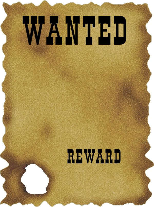 Print this out and have kids draw their own faces onto the paper - printable wanted posters