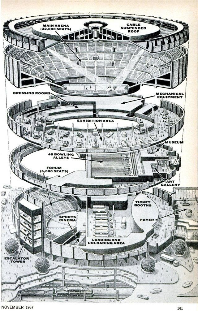 Madison Square Garden Exploded View Drawing 1967 charming Madison – Madison Square Garden Plan