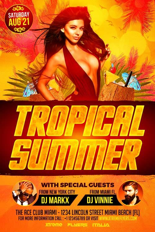 Tropical Summer Flyer Template  HttpXtremeflyersComTropical