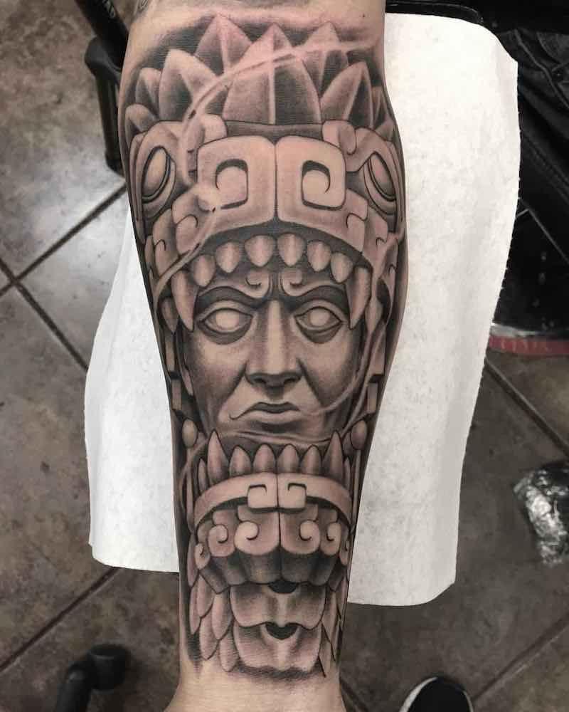 Guerrero Azteca Jaguar Tattoo