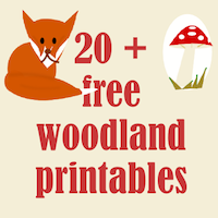 picture relating to Free Printable Woodland Animal Templates named ☞ 20+ no cost woodland printables - Waldtiere Druckvorlagen