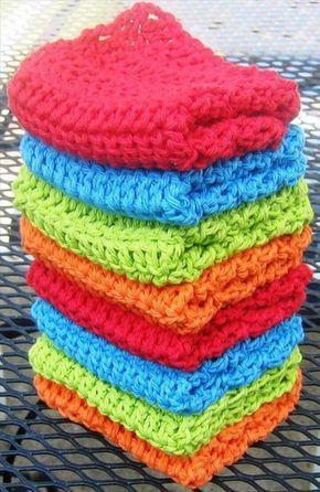 56 Quick Easy Crochet Dishcloth Pinterest Crochet Dishcloths