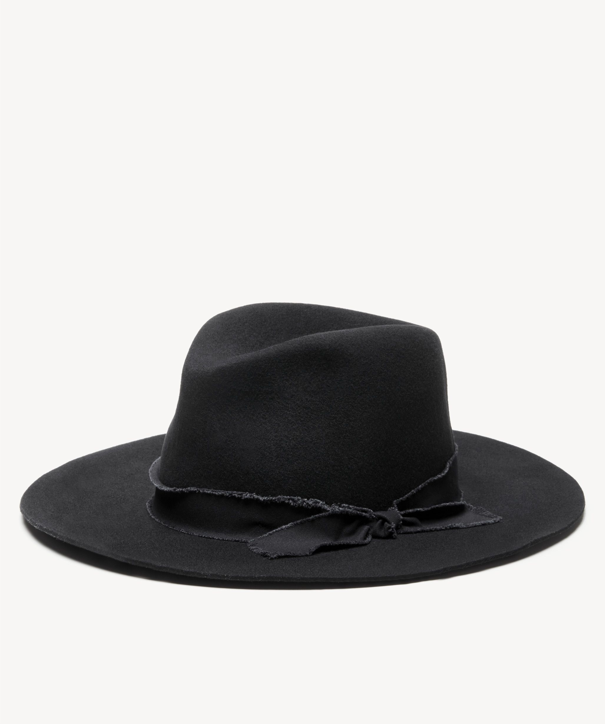 Women s Wool Felt Panama Hat Black  996a4e61959f