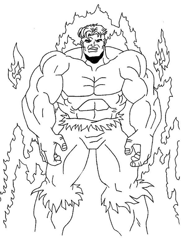 Fire Hulk Coloring Pages Free Hulk Coloring Pages Superhero Coloring Coloring Pages