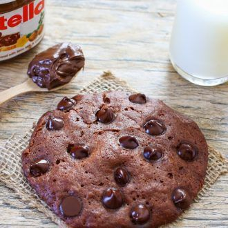 Microwave Nutella Cookie
