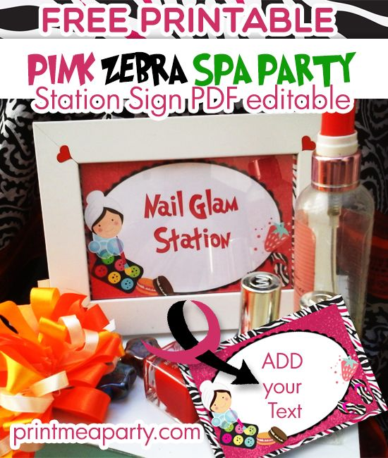 graphic regarding Spa Party Printable called Absolutely free Spa Birthday Bash printables Gals Spa Birthday