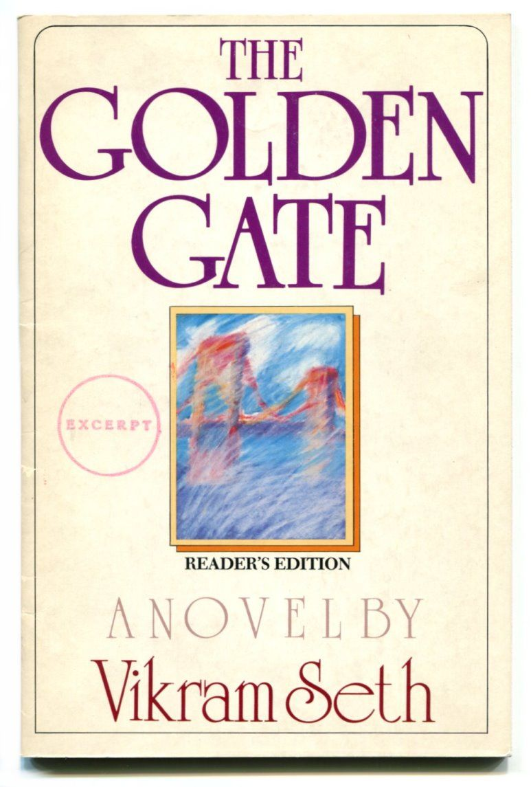The Golden Gate Vikram Seth Book Worth Reading Novels Books
