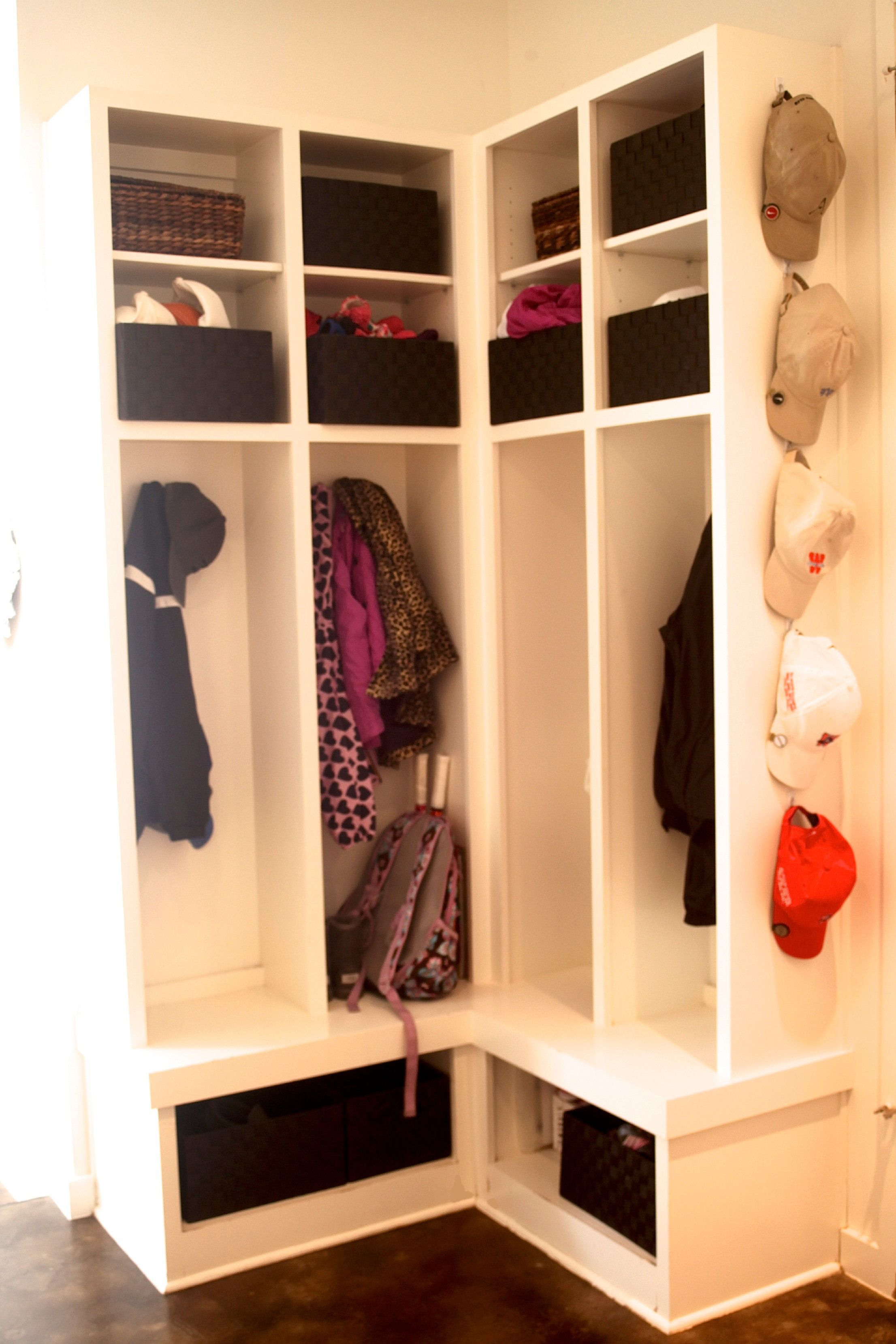 Corner Laundry Shelf Mudroom After Organization Pinterest