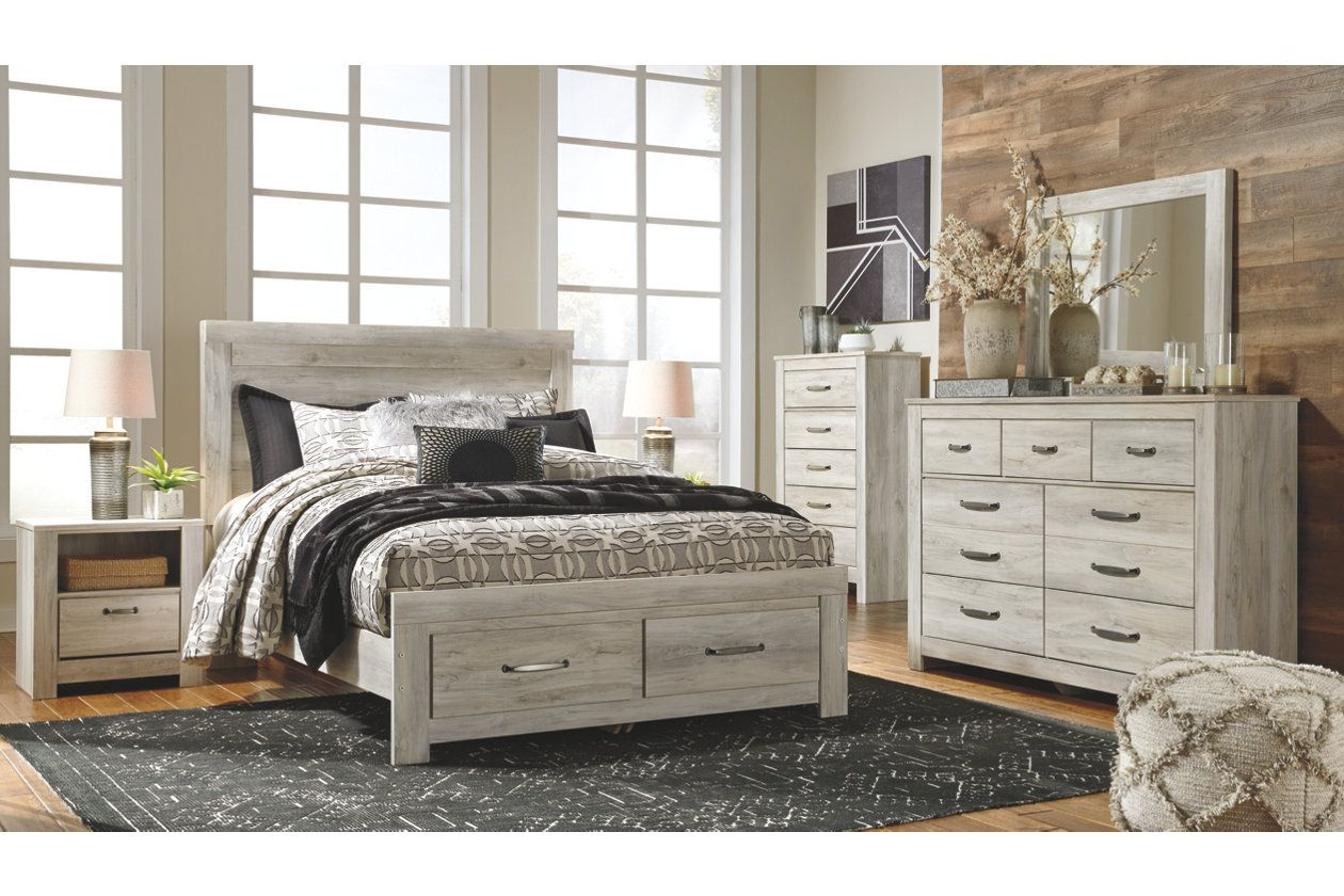 Bellaby Queen Platform Bed with 2 Storage Drawers (With