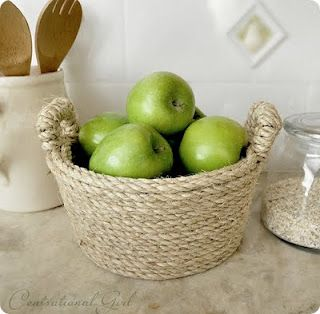 Rope Wrapped Bucket Craft Ideas Pinterest Twine Craft And